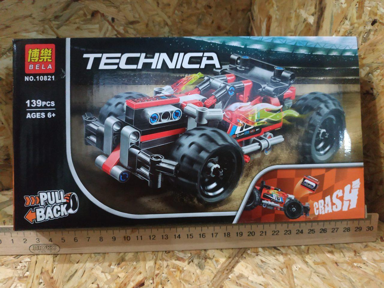 """Конструктор Technica """"Красный гоночный автомобиль"""" (аналог Lego Technic 42073), 139 дет"""
