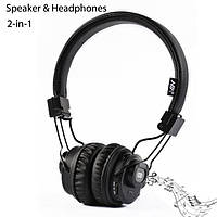 Беспроводные Bluetooth наушники-стерео колонка 2:1 NIA X5 SP с MP3 micro SD