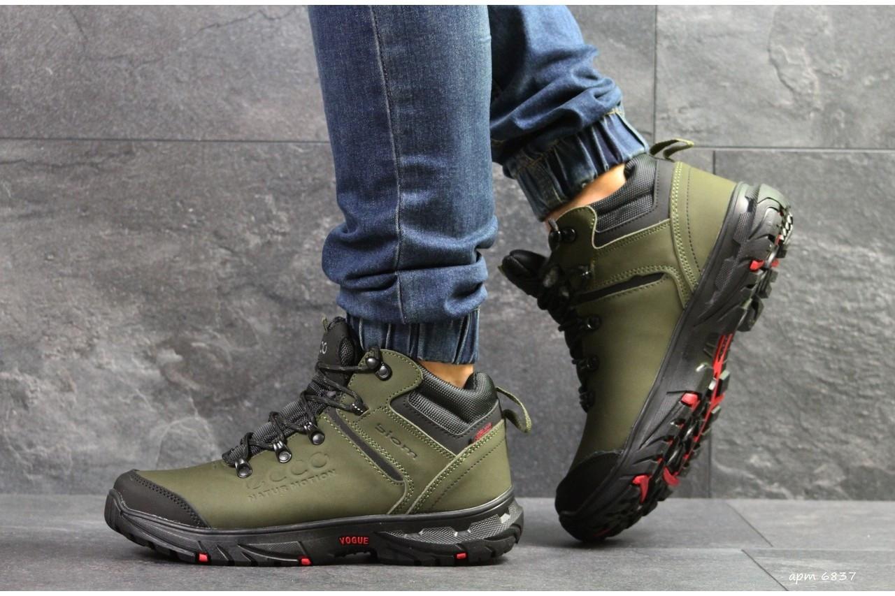 Ботинки Ecco 6837 темно зеленые