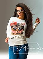 """Стильная женская кофта  """" Кошка """" SK House"""