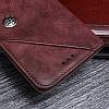 """NOKIA 2.1 чехол книжка оригинальный кожаный противоударный с карманами визитница кошелёк нат. КОЖА """"STONE"""", фото 4"""