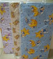 Матрац в детскую кроватку КПК (кокос+ поролон+ кокос ), 120х60х10см