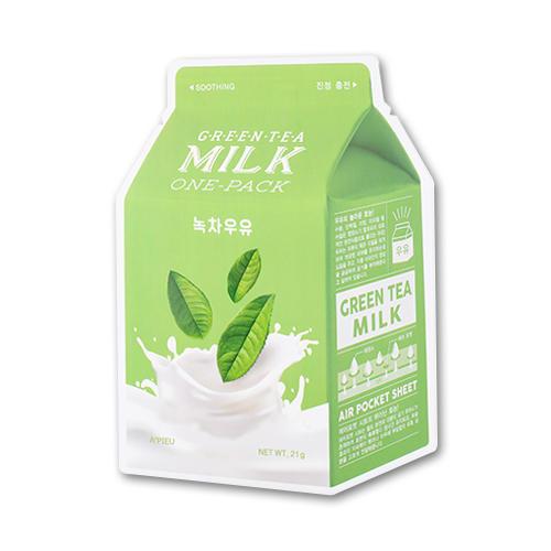 Тканевая маска с чаем и молоком A'PEIU Green Tea Milk One-Pack