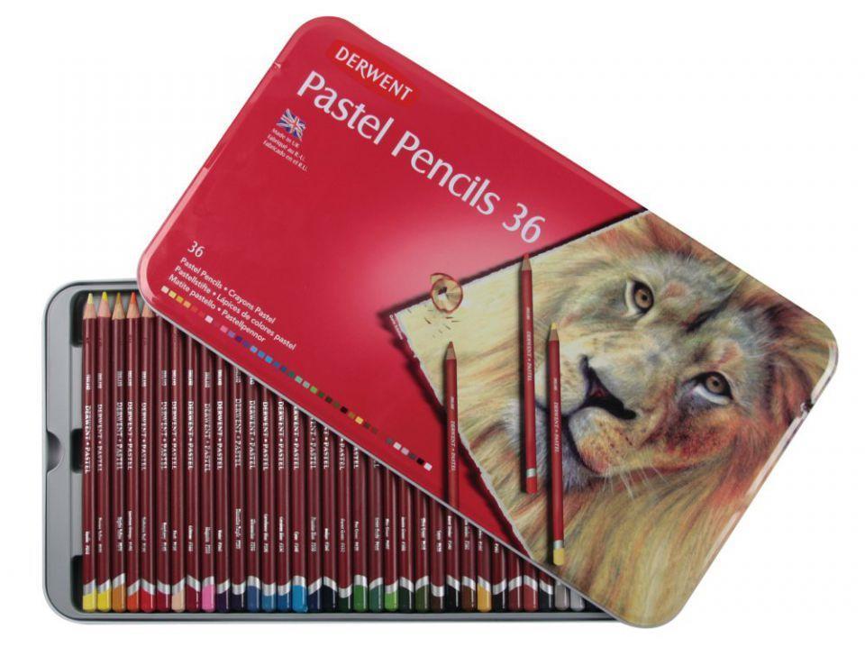 Набор пастельных карандашей Pastel 36шт. мет коробка Derwent