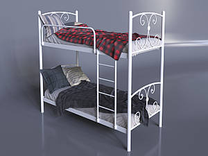 Двухъярусная кровать Жасмин Tenero 800х2000 мм металлическая