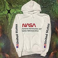 Худи NASA толстовка белая наши фотки|
