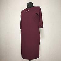 Женское платье большой размер весна-осень 54 (52) батал для полных женщин №0361