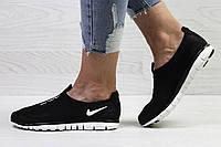 Подростковые кроссовки летние Nike Free Run 3.0 сетка,черно-белые, фото 1
