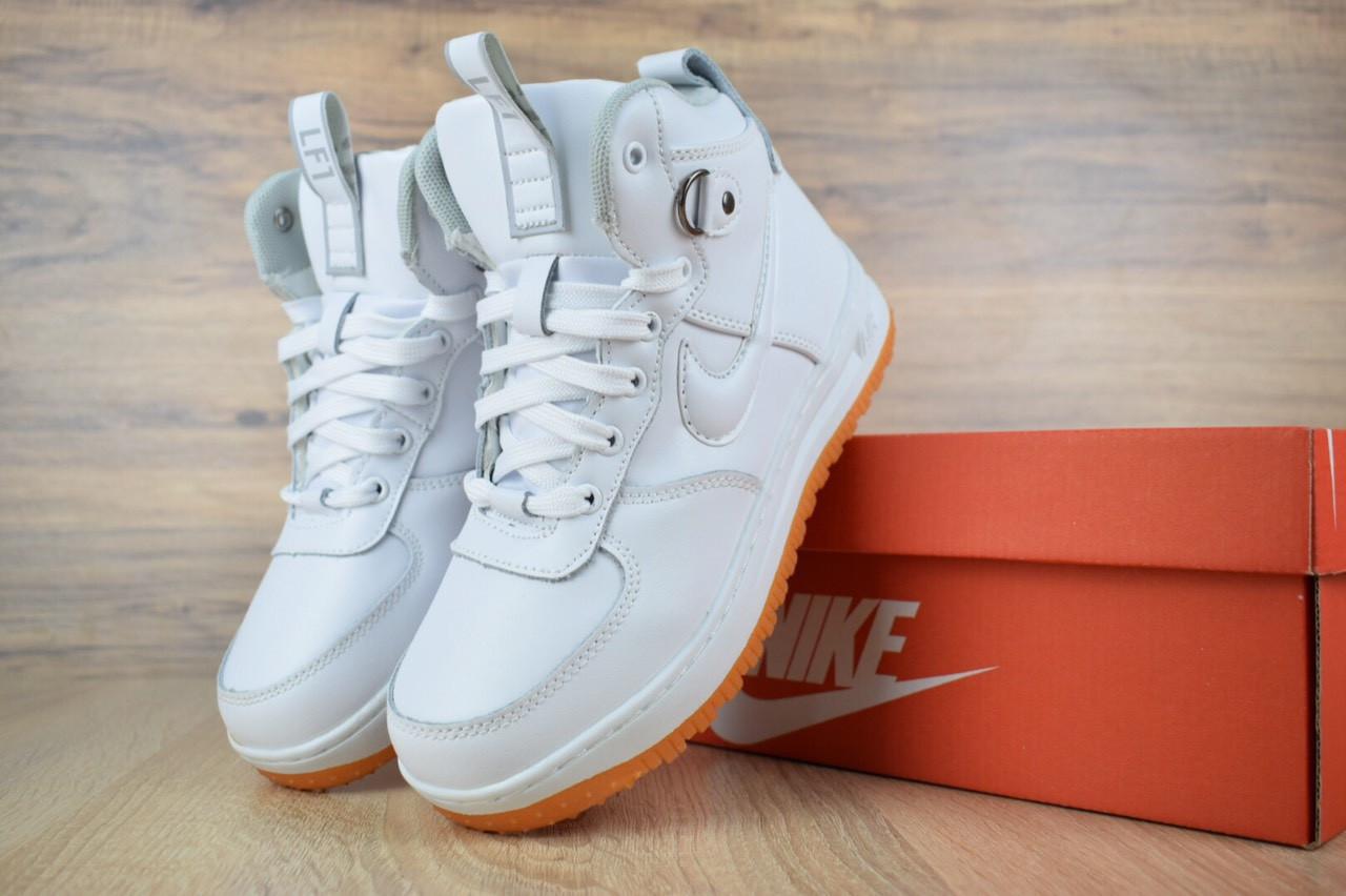 859239a9 Женские утепленные кроссовки Nike Lunar Force 1. Код ОД - 3234. Белые