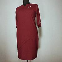 Женское платье большого размера осеннее нарядное 60 (52, 54, 56, 58) батал для полных женщин №0362