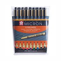 Набір линеров PIGMA Micron 9шт. різнокольорові Sakura