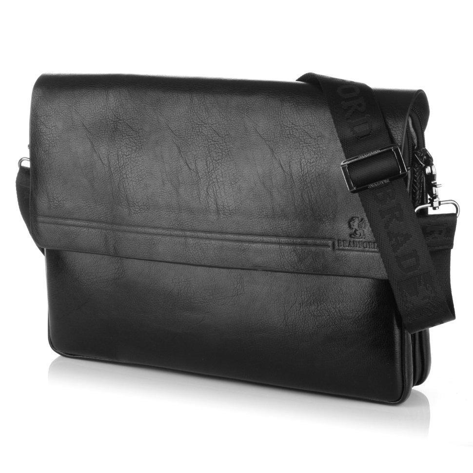aa52a617aeaf Мужская сумка Bradford 98337-6 для документов формата А4 на пять отделов  искусственная кожа размер 36х28х9см