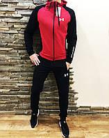Мужской спортивный костюм Under Armour красный с черным Реплика Отличного Качества, фото 1