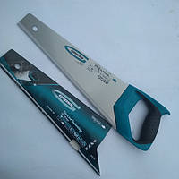 "Ножовка по дереву ""PIRANHA"", 450 мм, 11-12 TPI, зуб-3D, каленый зуб, двухкомпонентная рукоятка. GROSS"