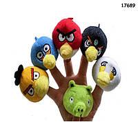 Пальчиковый театр Angry Birds, 6 игрушек