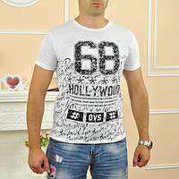 """Футболка мужская """"Hollywood"""" (разные расцветки) (Код: 682)"""