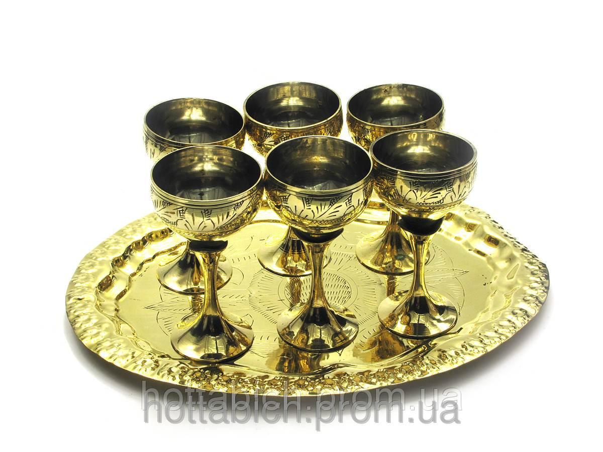 Рюмки бронзовые набор 6 шт