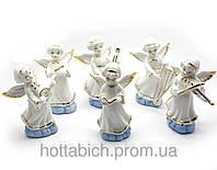Ангелочки музыканты фарфор набор 6 шт