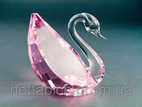 Фигурка хрустальная Лебедь 4 цвета