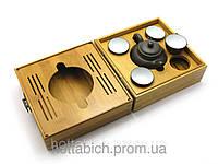 Чайный набор в бамбуковом футляре