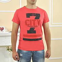 """Футболка мужская """"City"""" (разные расцветки) (Код: 677)"""
