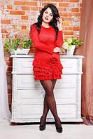 Платье молодежное из замши, фото 1