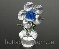 Хрустальный цветок Цветок синий