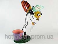 """Металлическая статуэтка подарок """"Пчёлка-собирательница"""""""