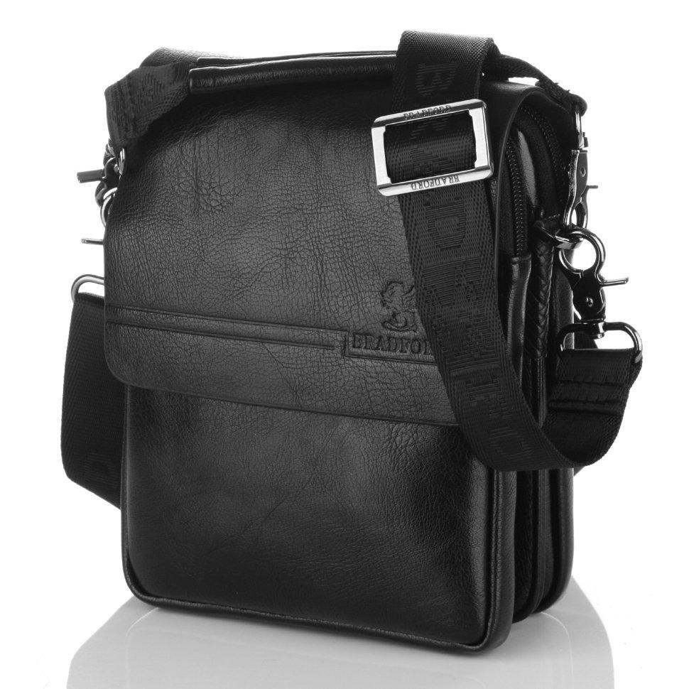 289f428f2342 Мужская сумка Bradford 98337-1 маленькая пять отделов искусственная кожа  размер 16х21х7см