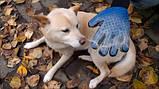 Щетка перчатка для вычесывания шерсти домашних животных True Touch, фото 2