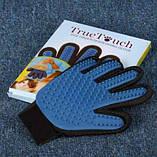Щетка перчатка для вычесывания шерсти домашних животных True Touch, фото 6