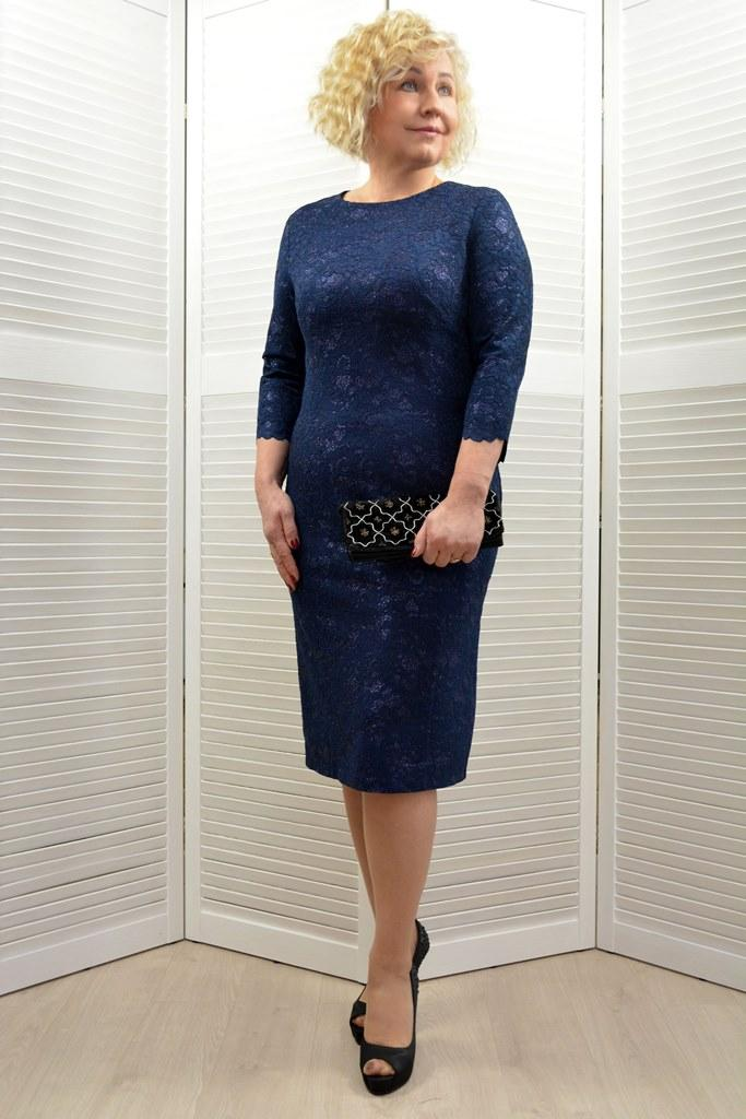 Платье т.синее - Модель Л344-4