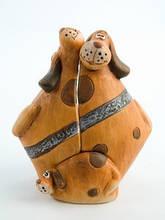 Керамическая фигурка копилка Собаки семья