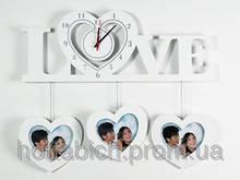 Настенные часы деревянные  Famille Amour 3