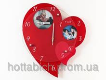 Настенные часы деревянные Средце