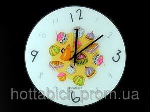Часы настенные из стекла Сладости  - Остров Сокровищ магазин подарков, сувениров и украшений в Киеве