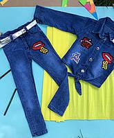 Костюм джинсовый для девочки. 80