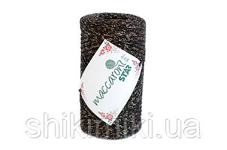 Трикотажный шнур с люрексом Star, цвет Шоколадный