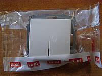 Выключатель одинарный с подсветкой El-Bi ZENA белый