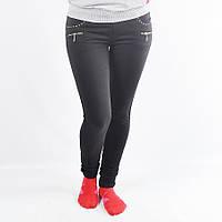 Женские спортивные штаны из трикотажа зауженные - 41-327