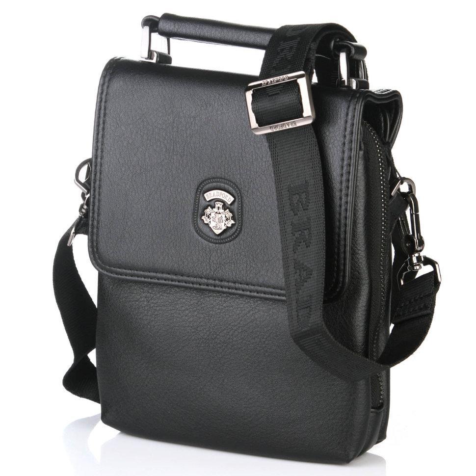21cf68b08b7d Мужская сумка Bradford 8925-2 искусственая кожа пять отделов наплечный  ремень 21 см х 26 см х 7см