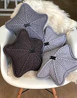 Декоративная вязаная подушка Звезда, 40*40, AZ-001