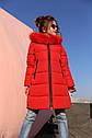Пальто детское зимнее Вики-2 ТМ Нуи Вери - Размеры 110 - 122 Натуральный мех песца, фото 3