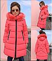 Пальто детское зимнее Вики-2 ТМ Нуи Вери - Размеры 110 - 122 Натуральный мех песца, фото 5