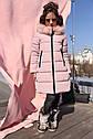 Пальто детское зимнее Вики-2 ТМ Нуи Вери - Размеры 110 - 122 Натуральный мех песца, фото 6