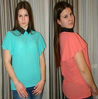 Блузка шифоновая с воланами