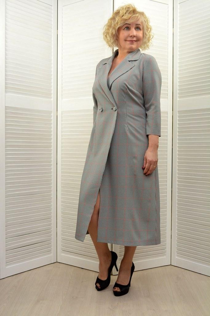 Платье с запахом - Модель 1741