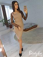 Элегантное платье с рукавами из сетки горох, фото 1