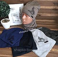 Детский комплект вязаный шапка и снуд р.52-54 оптом украина 264c2c9ca936f