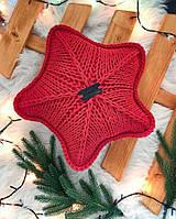 Декоративная вязаная подушка Звезда, 40*40, AZ-003